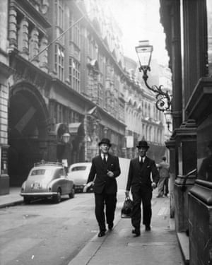 City workers in London, 1954