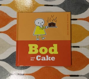 Bod and the Cake by Michael and Joanne ColeReviewed by Rachel and SamI loved Bod when I was growing up in the late 70s/early 80s and when I saw him again, in this lovely new edition, I really wanted to introduce him to my young son. In Bod and the Cake Aunt Flo is baking a cake and decides to invite the others round to help her eat it. The joy of this book is its simplicity. The plot and characters are uncomplicated. The illustrations are simple line drawings filled in with block colour with very little in the way of backgrounds. It's a gentle, engaging tale that has stood the test of time.