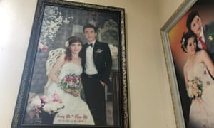 Le Van Ha, right, in his wedding day photograph.
