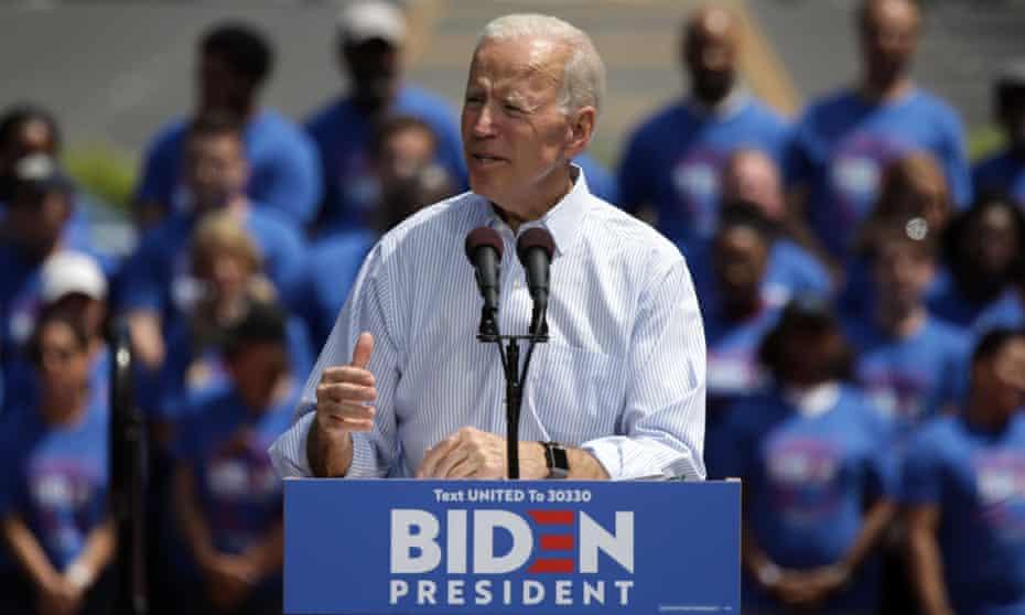 Presidential Democratic frontrunner Joe Biden.