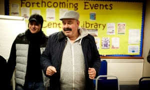 Isam Mohammed Hamza (right), a Syrian refugee, attends an employability session at Coventry's central library