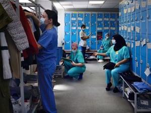 Barnet hospital changing room