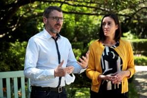 French MPs Matthieu Orphelin and Paula Forteza