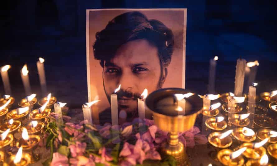 Vigil for Reuters journalist Danish Siddiqui in Kathmandu
