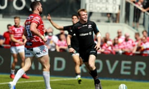 Nick Tompkins scored a hat-trick for Saracens but the champions may miss Brad Barritt on Saturday.