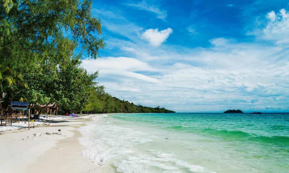 So right … Koh Rong island – a boat trip from Sihanoukville.