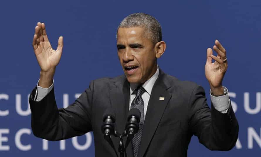 President Obama speaks at Stanford.