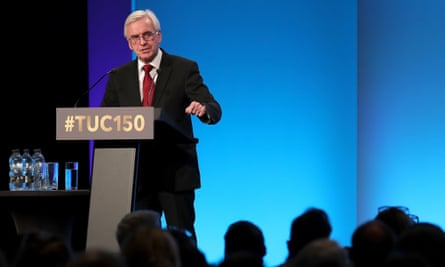 John McDonnell speaking at the TUC in Manchester
