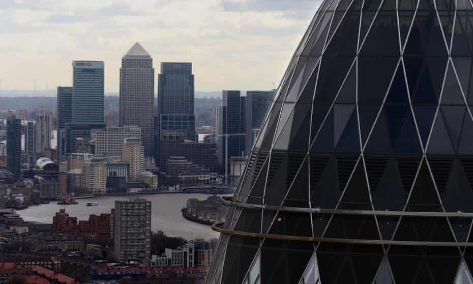 London skyline with Gherkin in foreground