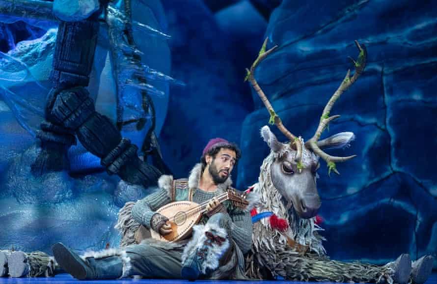 Sean Sinclair as Kristoff and Lochie McIntyre as Sven the reindeer.