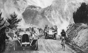 Ottavio Bottecchia on the Briançon climb of the Nice stage, Tour de France 1925.