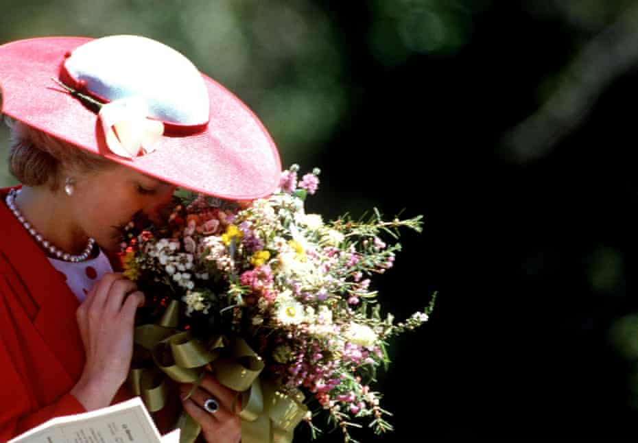 Princess Diana during a visit to The Royal Botanical Gardens in Melbourne, Australia.