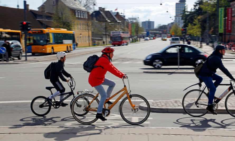 Cyclists in Copenhagen.