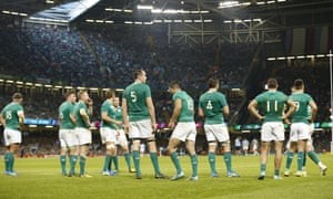 Ireland players after Argentina's Joaquin Tuculet scores a try.
