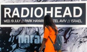 Poster in Tel Aviv advertising Radiohead gig