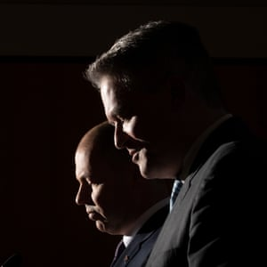The Treasurer Josh Frydenberg and Finance Minister Mathias Cormann.