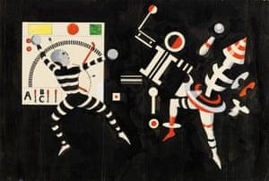 Kurt Schmidt: The Man at the Control Panel, 1924, scene design