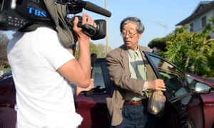Dorian Satoshi Nakamoto, 64, who Newsweek identified as the founder of Bitcoin, talks with the media at his home in Temple City, California.
