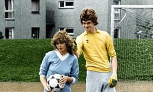 De Hepburn and John Gordon Sinclair in Gregory's Girl