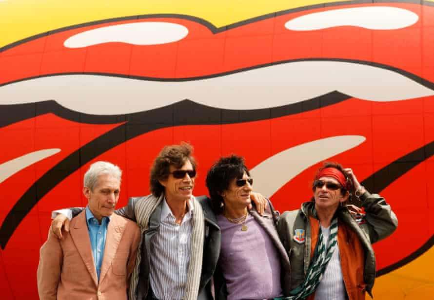 With the Rolling Stones in 2002.