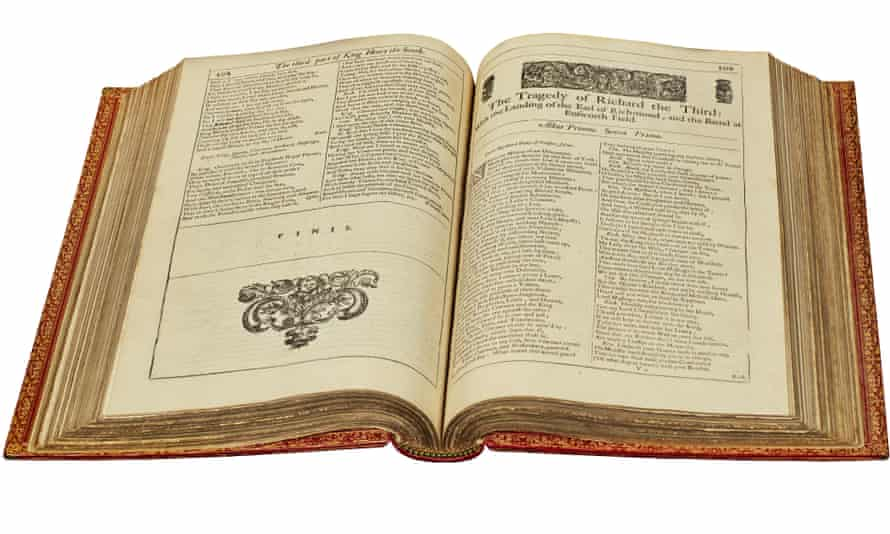 Glorious summer earner … William O'Brien's edition of Shakespeare's third folio.