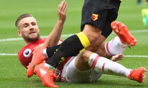 Luke Shaw was publicly criticised by José Mourinho for his part in Watford's second goal during the 3-1 defeat at Vicarage Road.