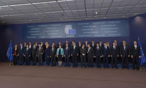 EU leaders pose for a family photo during an EU summit meeting at the European union headquarters in Brussels on June 25, 2015 AFP PHOTO / POOL / BELGA DIDIER LEBRUNDIDIER LEBRUN/AFP/Getty Images