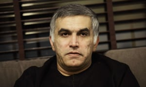 Bahraini activist Nabeel Rajab at his home in the village of Bani Jamra after being released from prison in November.