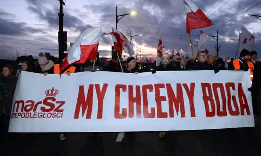 'We want God' marchers