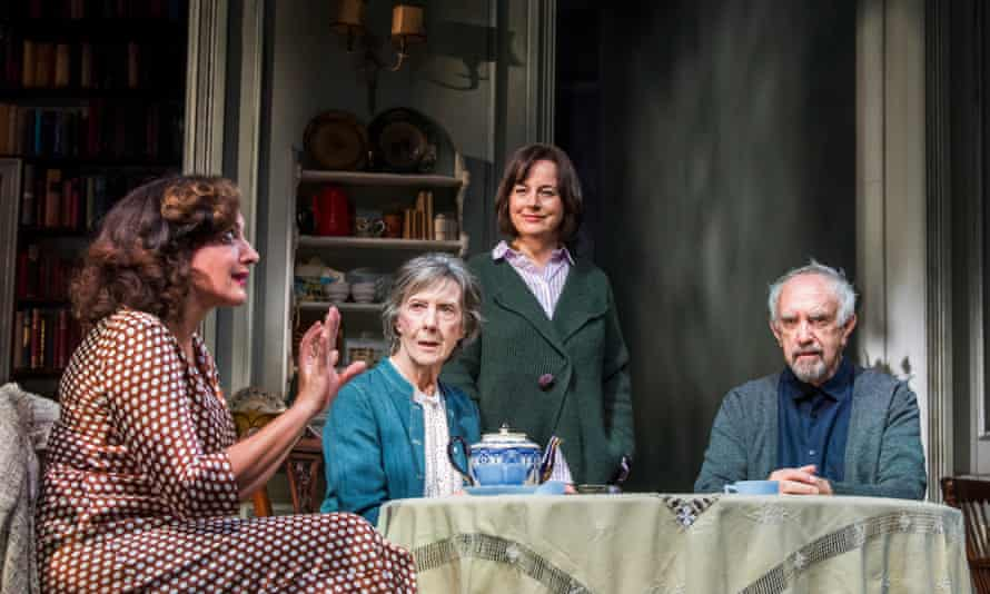 Lucy Cohu as The Woman, Eileen Atkins as Madeleine, Amanda Drew as Anne and Jonathan Pryce as Andre in The Height of the Storm