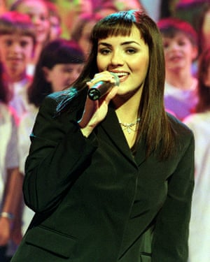 Martine McCutcheon performing on Children in Need, November 1999.
