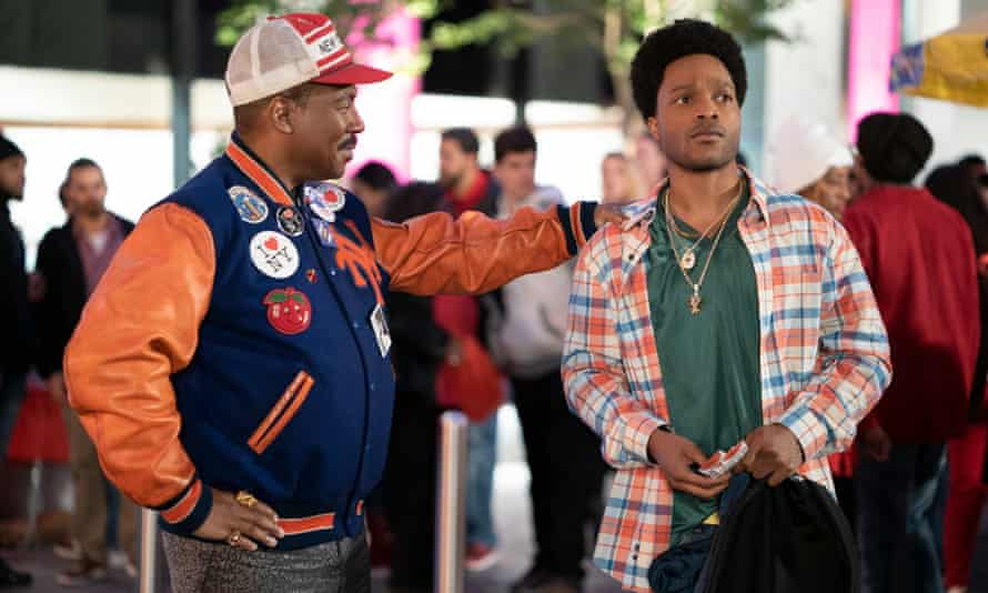 Fruit of comedy loins ... Eddie Murphy as Prince Akeem with Jermaine Fowler as his son, Lavelle, in Coming 2 America.