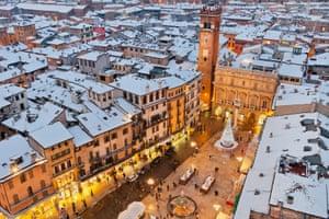 Piazza delle Erbe at Christmas, Verona