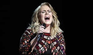 'Thirty tried me so hard but I'm owning it' ... Adele performing at the 2017 Grammy awards.