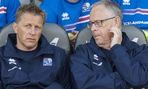 Lars Lagerback (right) and Heimir Hallgrímsson