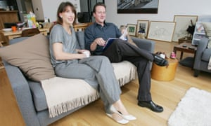 David and Samantha Cameron in their Notting Hill home