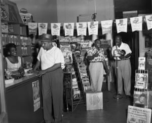 A Memphis record store in the Summer, 1954
