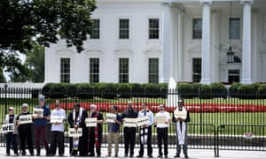 Activists protest in front of the White House Tuesday in Washington DC.
