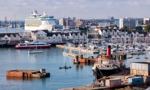 Cruise liners in Southampton docks