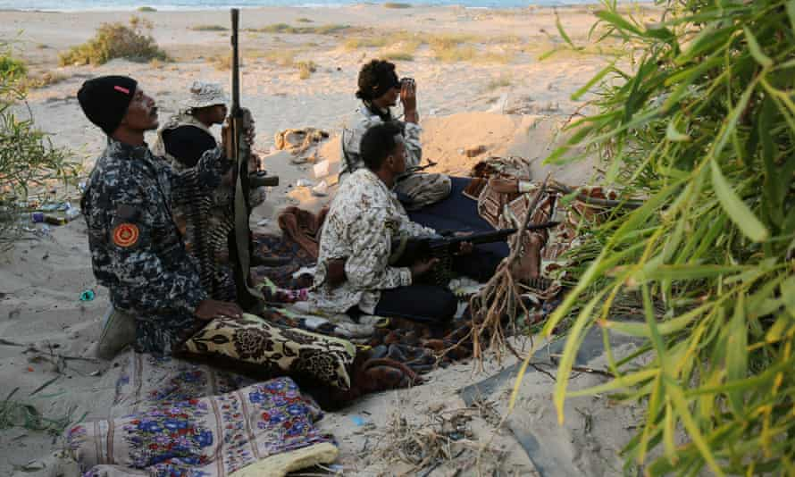 Libyan forces allied with the UN-backed government confronting Isis in Sirte.