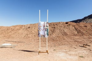 A paper target at the shooting class for teachers.