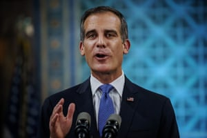 Eric Garcetti, mayor of Los Angeles, says the virus has underscored the need for pre-pandemic plans to roll out miles of new bike lanes and rail lines.