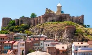Nariqala Fortress and the Abanotubani quarter, Tbilisi.