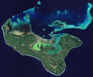 The island of Tongatapu and the nearby smaller islands