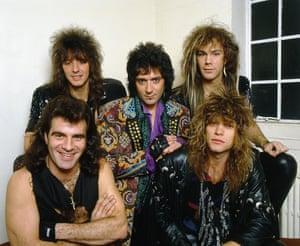 Halfway there ... (clockwise from top left) Richie Sambora, Alec John Such, David Bryan, Jon Bon Jovi and Tico Torres in the mid-80s.