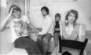 Kim Gordon in Sonic Youth with (from left) Thurston Moore, Lee Ranaldo and Steve Shelley.