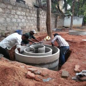 Bio-toilet construction.