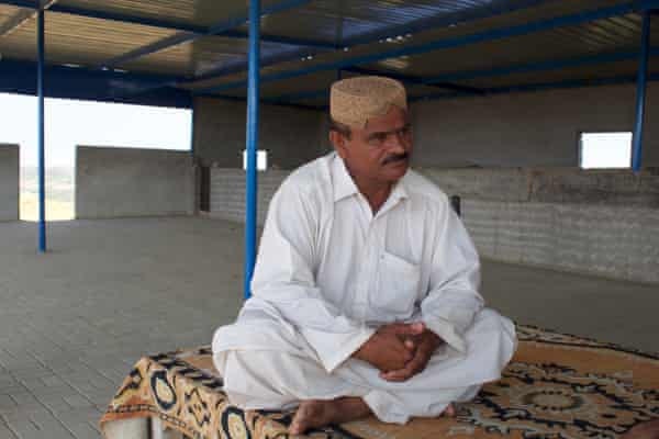 Muhammad Amin in his factory and hotel - in Darya Khan Goth, the land on which he has lived for a century