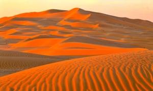 Dunes in the Empty Quarter, Oman.
