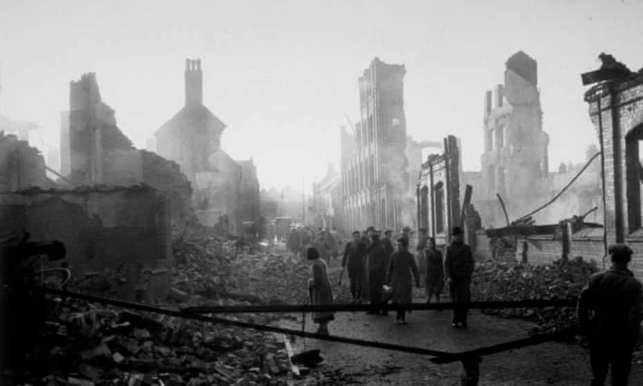 Coventry rubble 1940s.